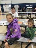 Students on Donuts with Dads Day