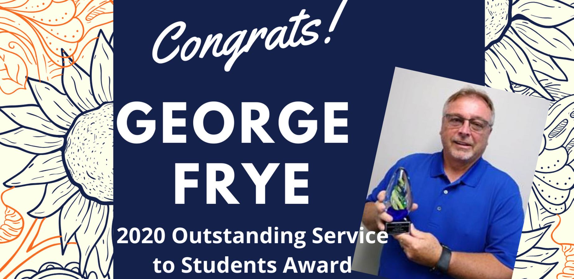 George Frye - Outstanding Service to Students Award