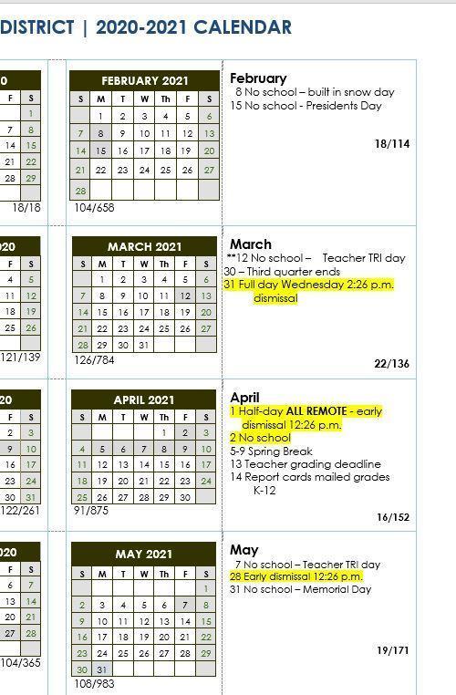 calendar revisions