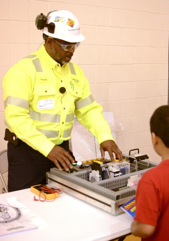 Students learn about occupations at Elementary Career Fair.