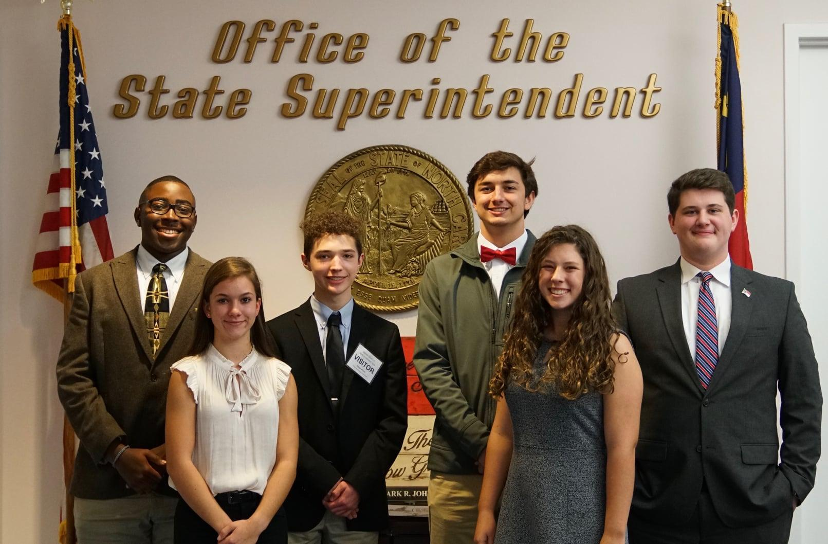 Picture of the six students from the State Superintendent's Student Advisory Committee