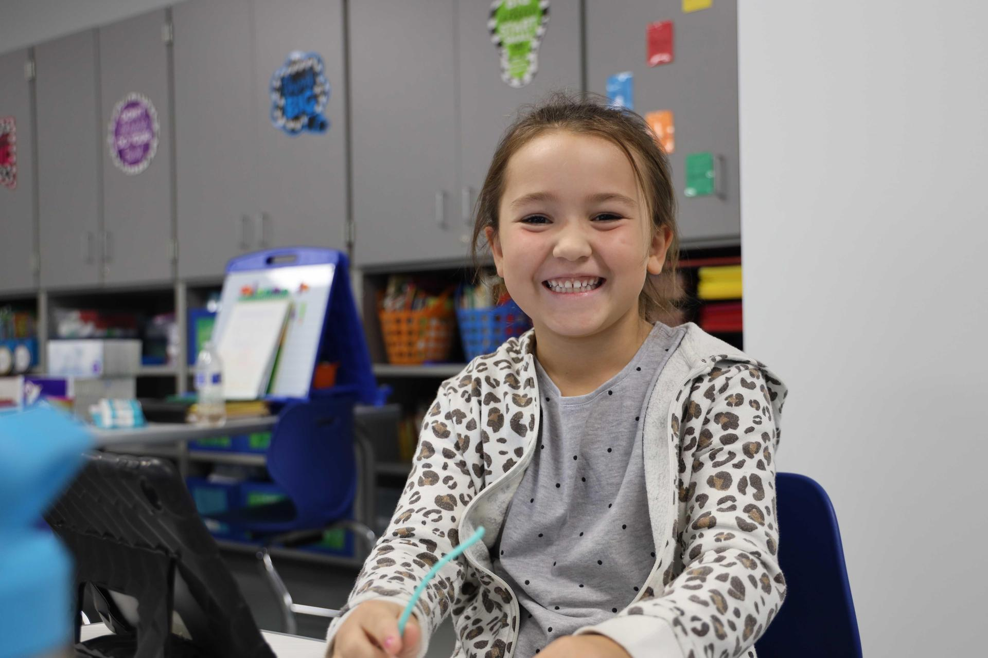 Carpenter Elementary students on the first day of in-person learning