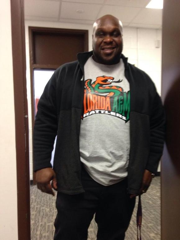 Mr. Bobian representing Florida A&M on College Day Wednesday!