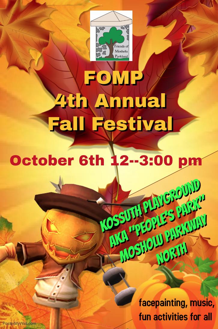 4th Annual Fall Festival flyer