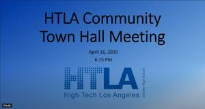 Town hall Meeting cover slide