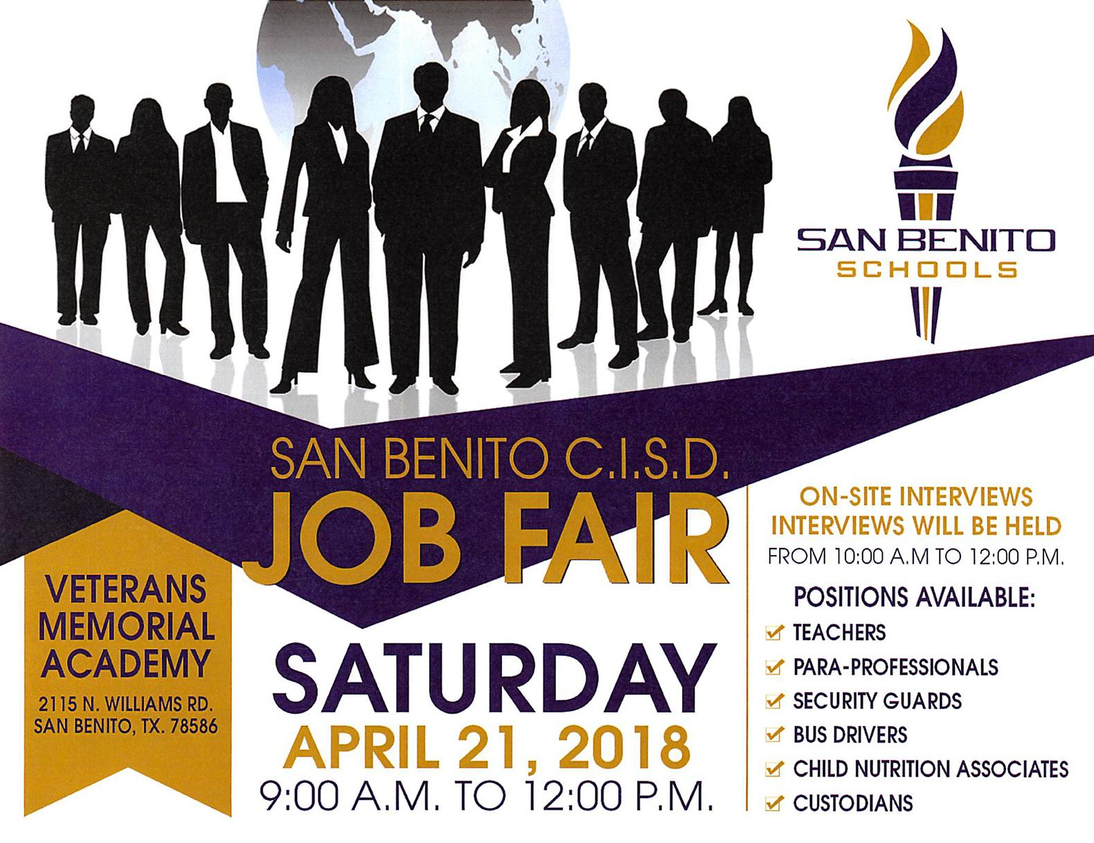Job Fair April 21, 2018