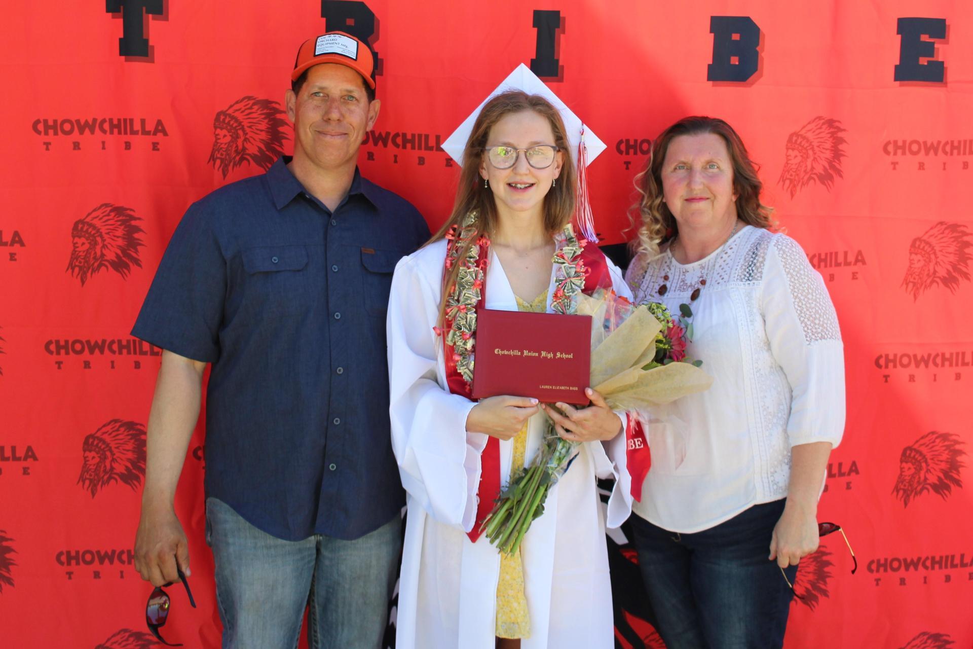 Lauren Bass and family