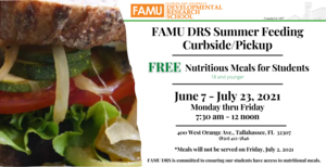 FAMU DRS Summer 2021 Feeding CurbsidePickup Program Flyer.png