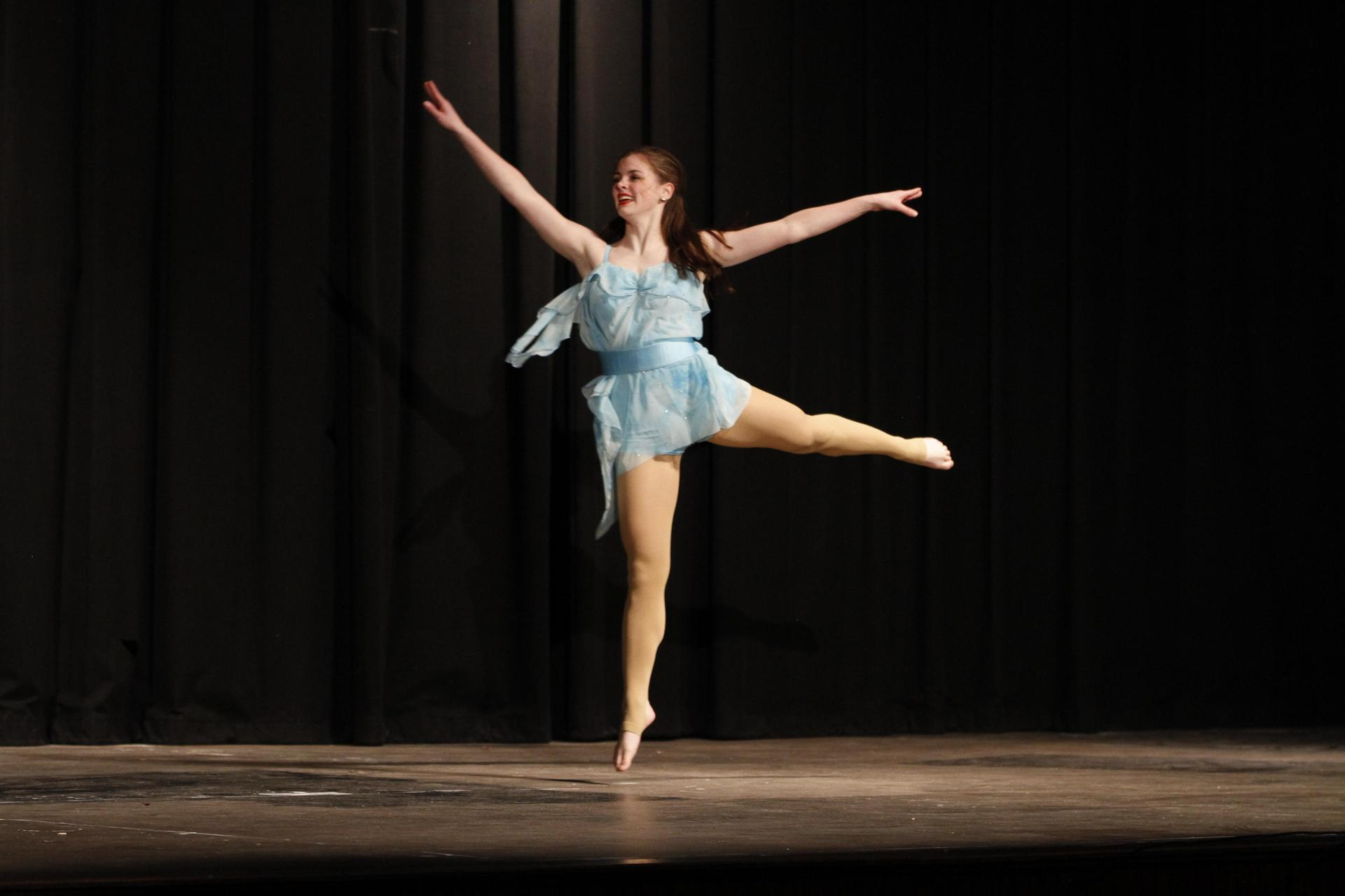 Dance Team member performs at Variety Show