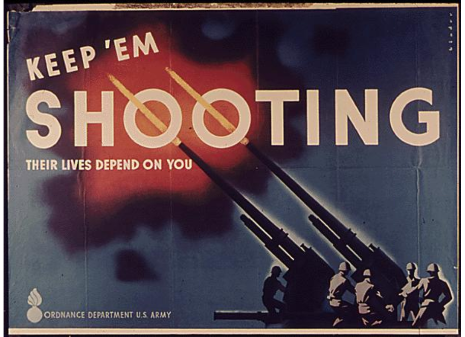 Keep 'em shooting poster