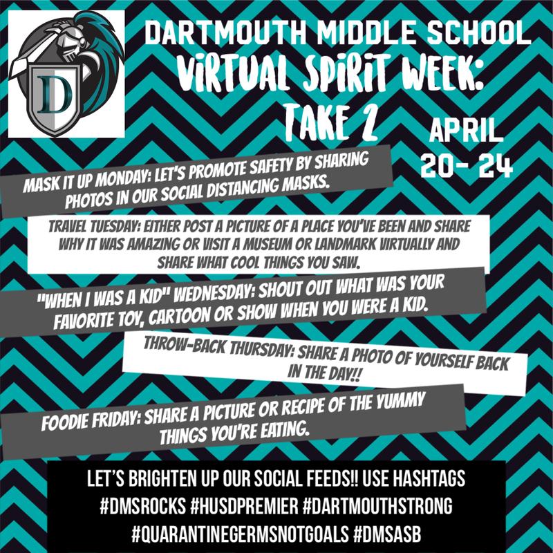 Virtual Spirit Week - April 20th