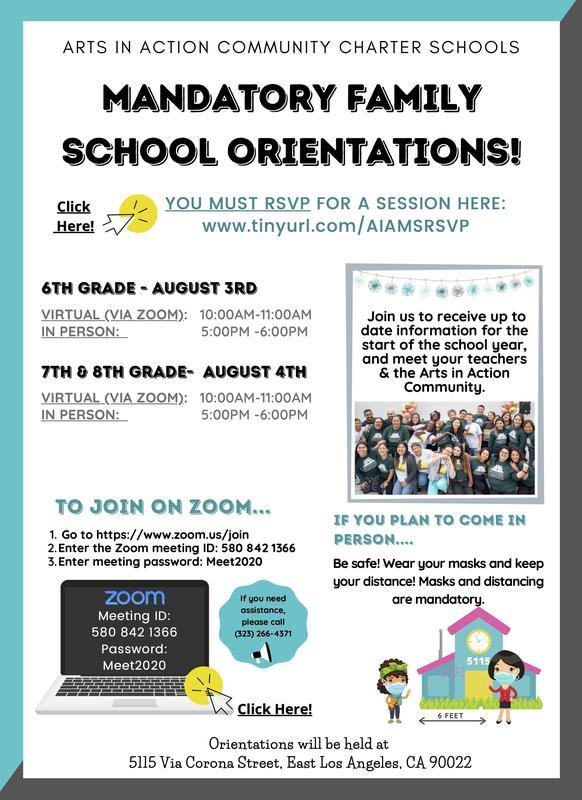 Middle School Orientations/ Orientaciones de la escuela secundaria Thumbnail Image