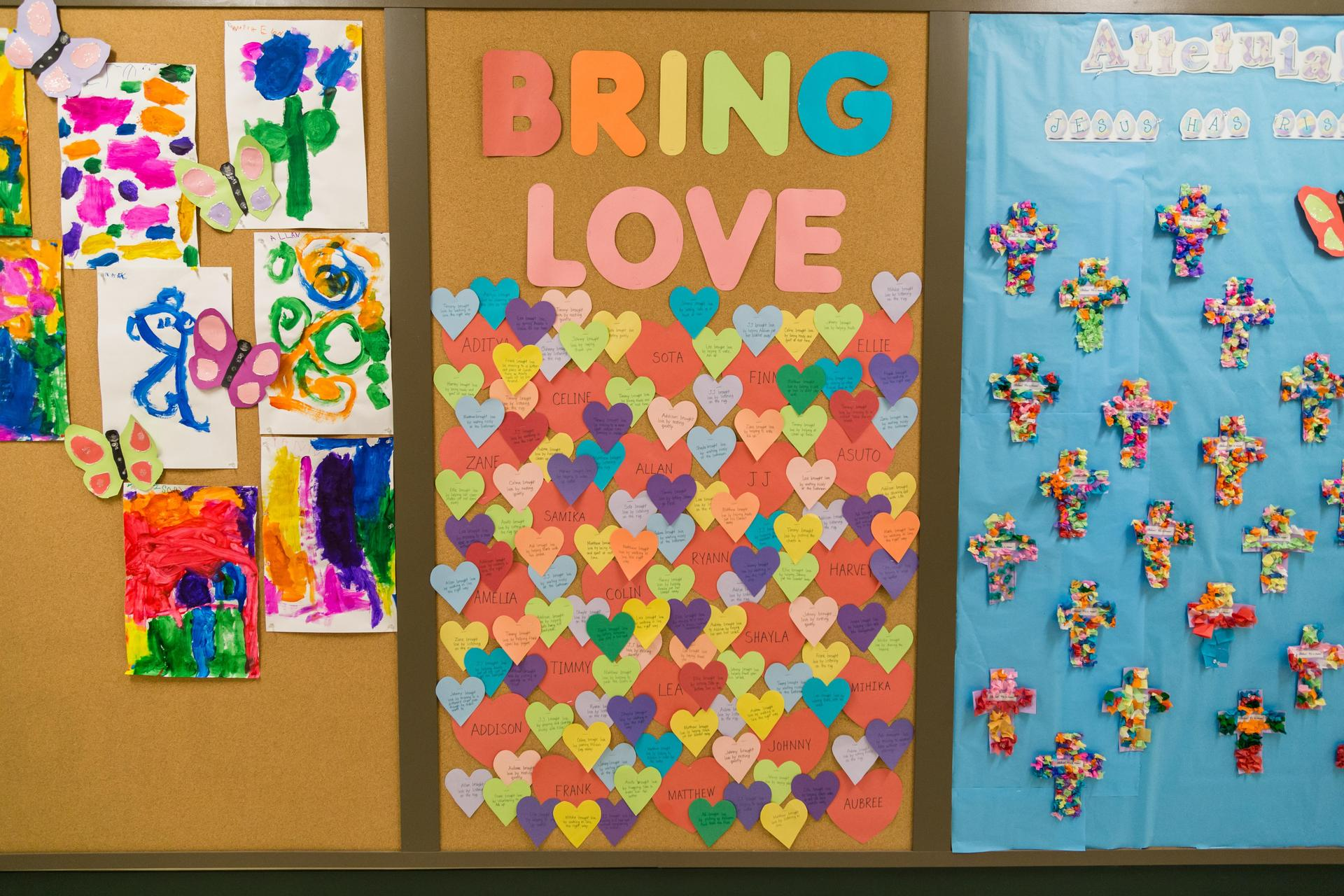 Bring love bulletin board