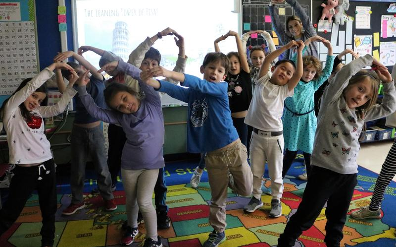 Tamaques students in Ms. Utman's afterschool STEAM class act out