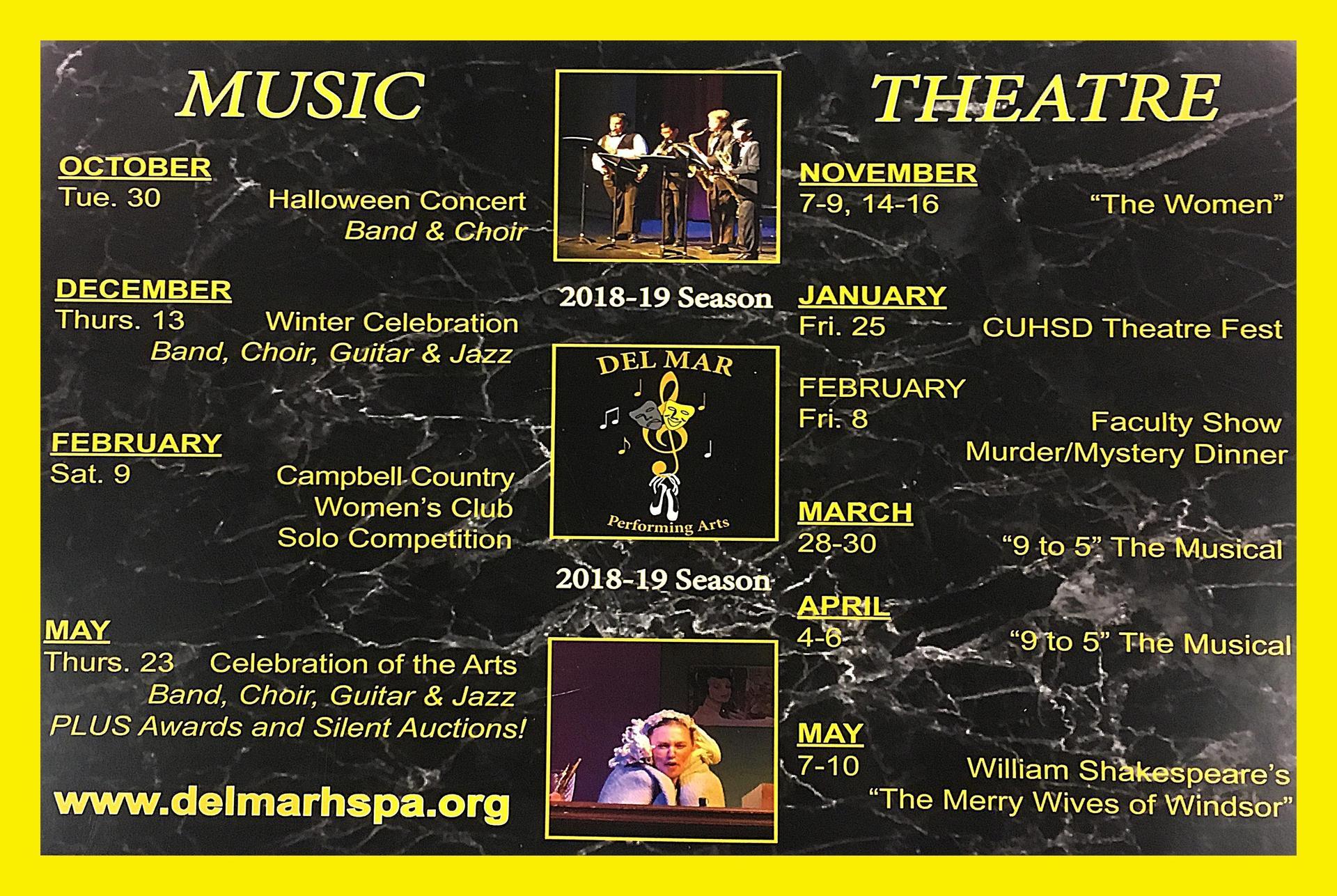 Image of 2018-19 Performing Arts Productions at Del Mar
