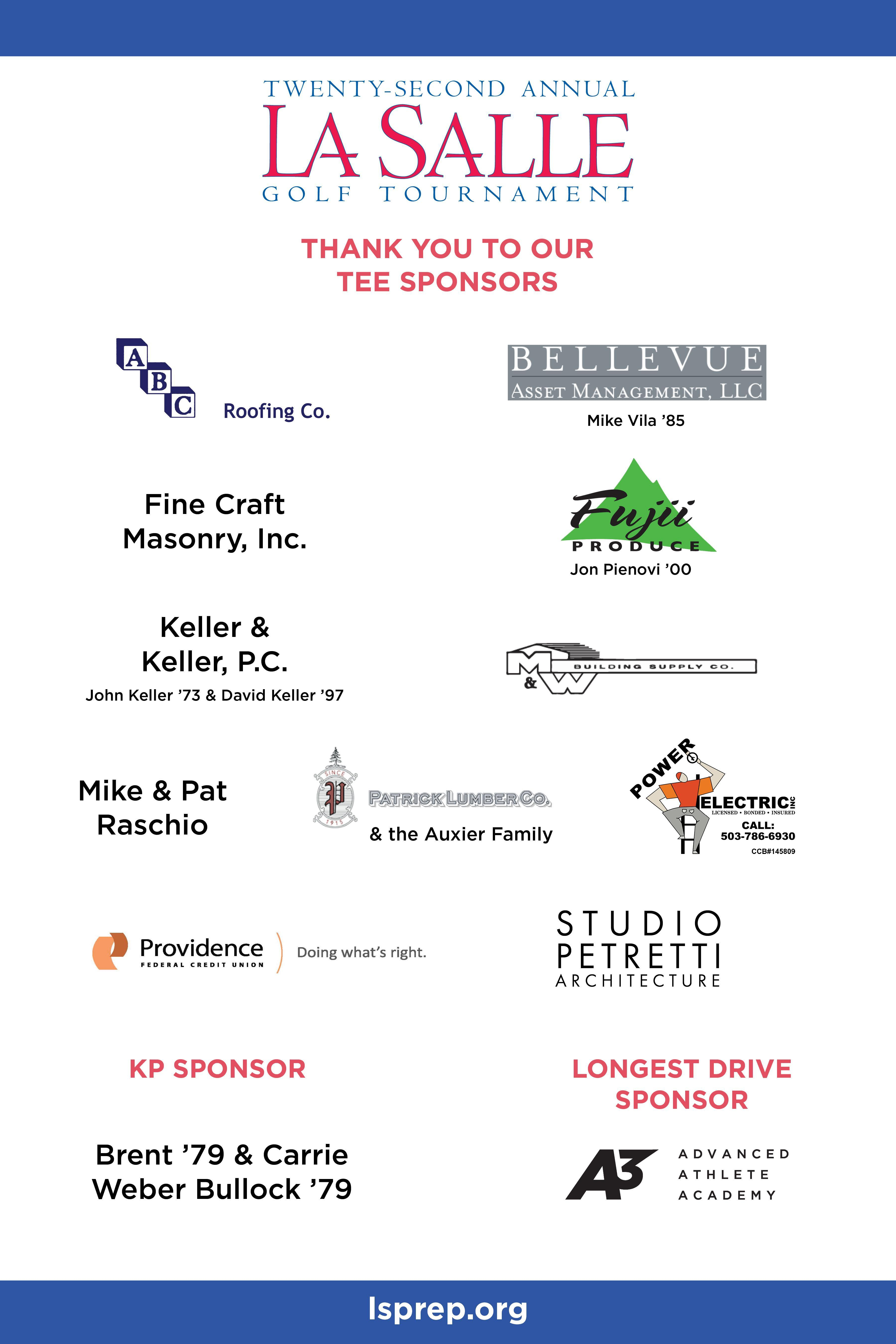 hole sponsor logos poster