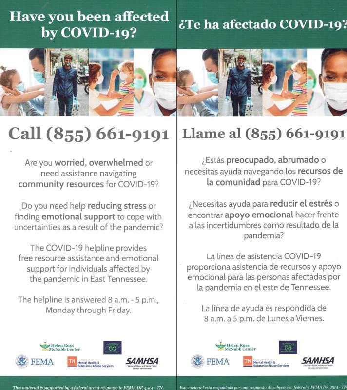 Covid 19 helpline call (855) 661-9191