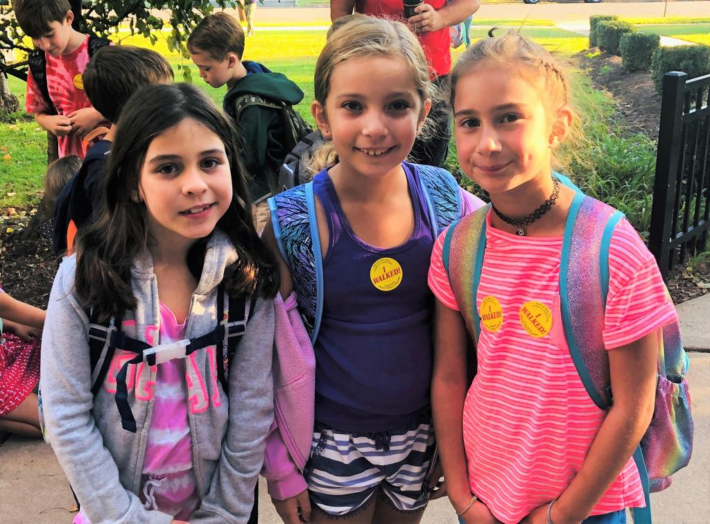 Photo of McKinley students on Walk to School Day.