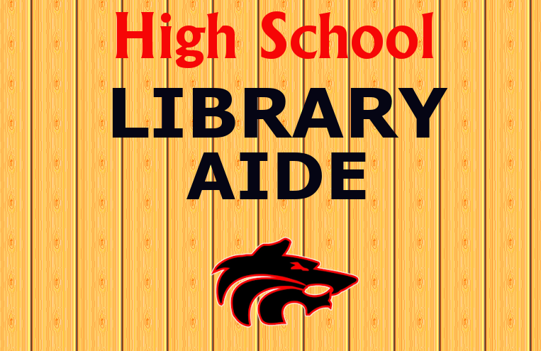 High School Library Aide with wolf logo