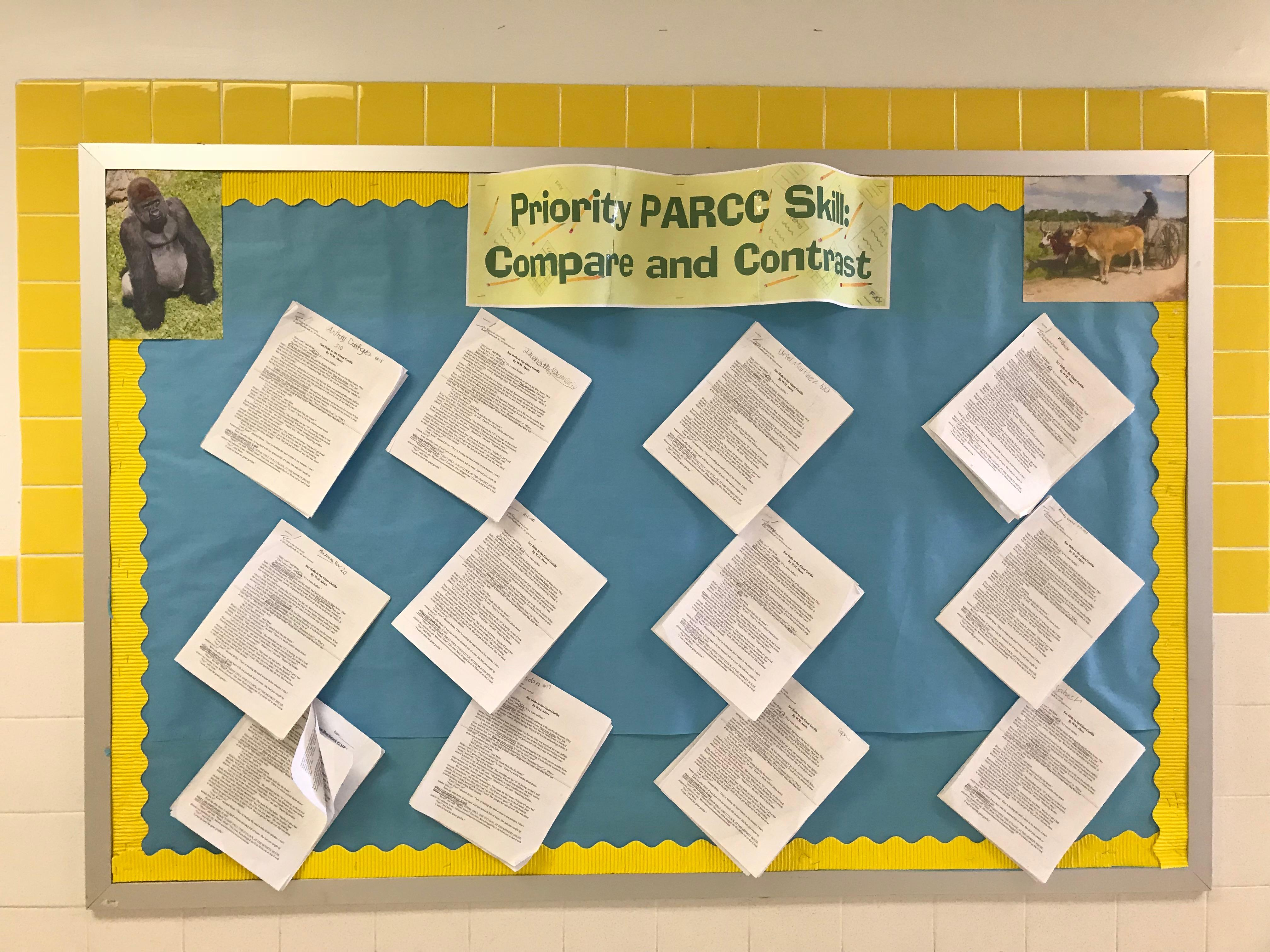 parcc activity compare and contrast
