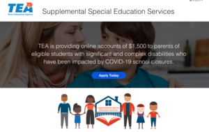 TEA Provides Families Funds Due to COVID School Closures