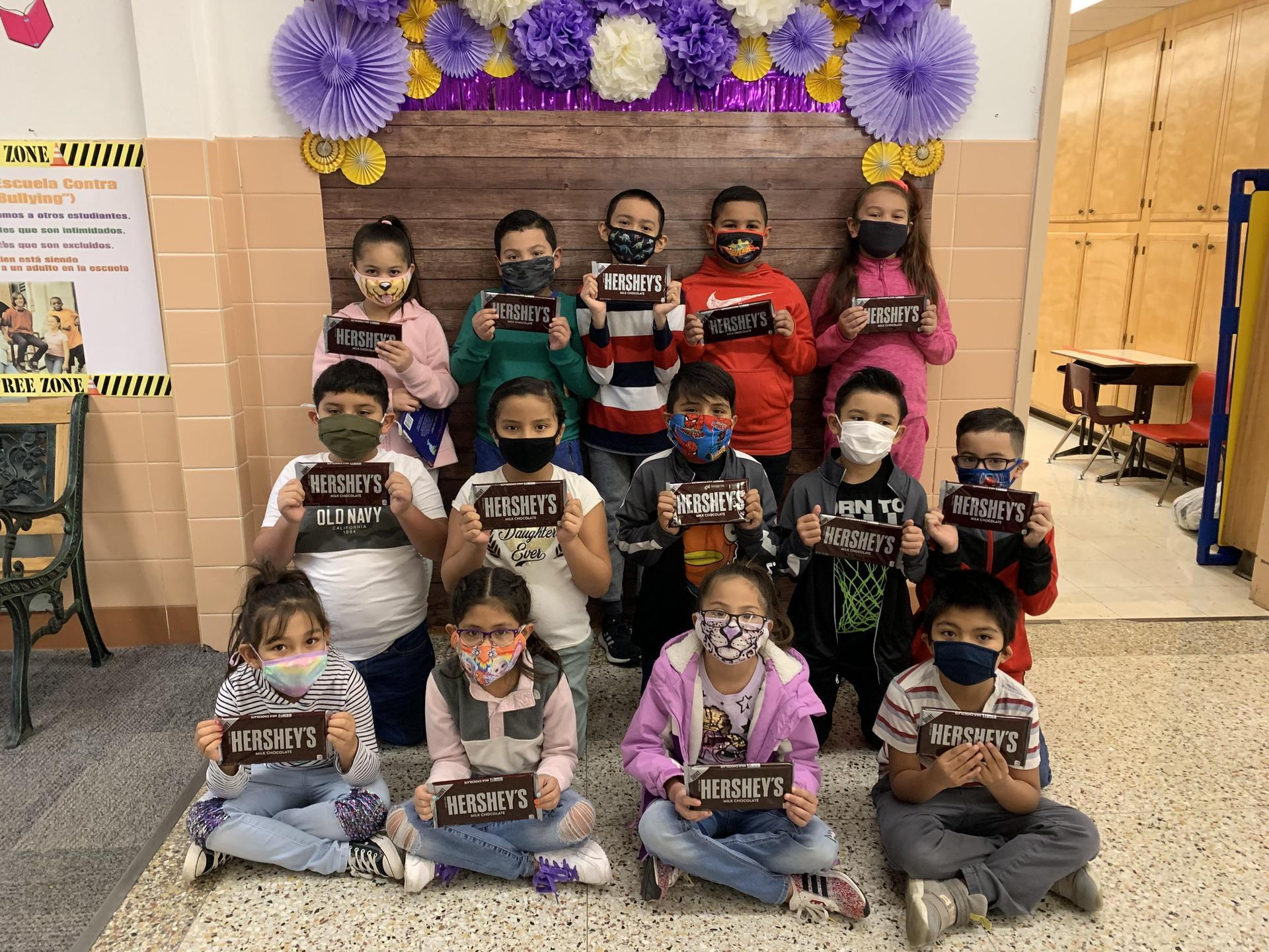 Chocolate Challenge 2nd Grade Winners - Mrs. Barnes' Class