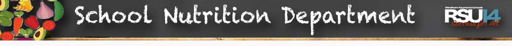 School Nutrition Banner