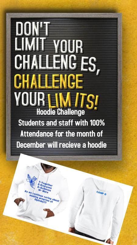 Oglesby Hoodie Attendance Challenge Featured Photo