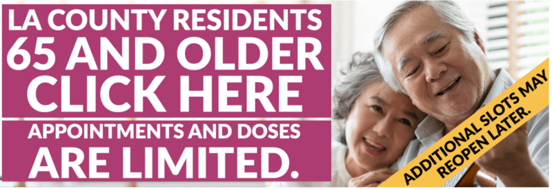COVID-19 Vaccine Available for LA County Residents 65 and Older Featured Photo