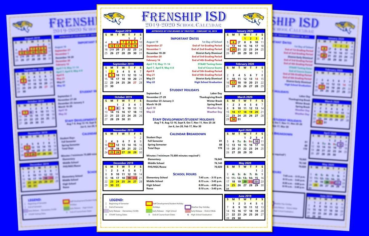 Fisd Calendar 2021 FISD Board Approves 2019 2020 School Calendar