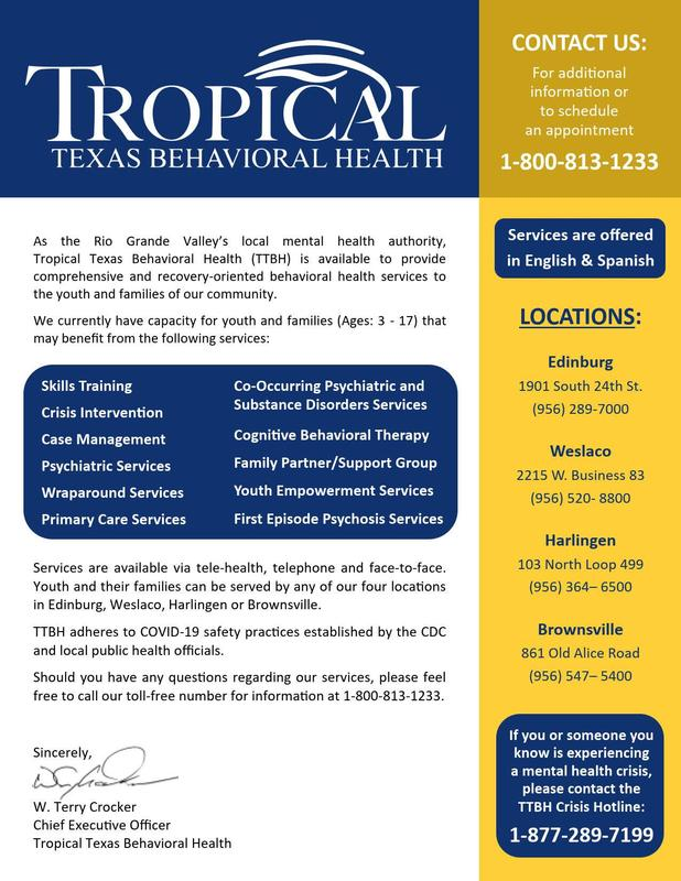 Tropical outreach letter