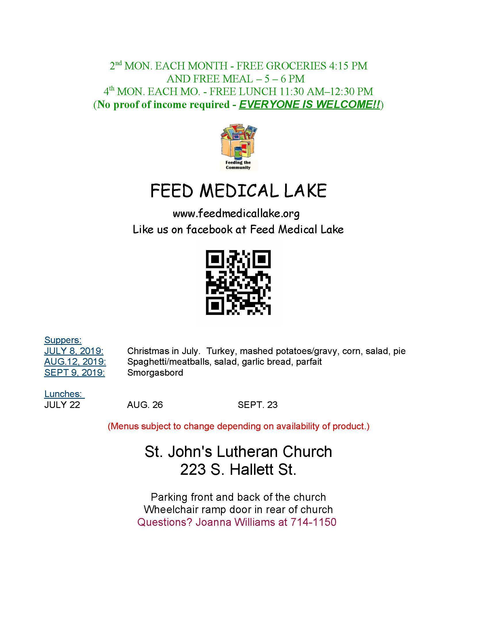 Feed Medical Lake Summer Program