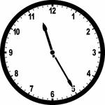 A clock set to 11:25
