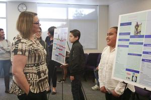 Students present their final projects