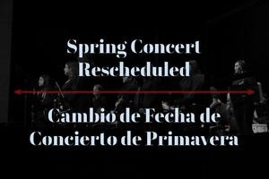 Change of date to spring concert