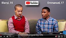 YouTube video on What is it like growing up online ? by UNICEF with Emmanuel and Bliany
