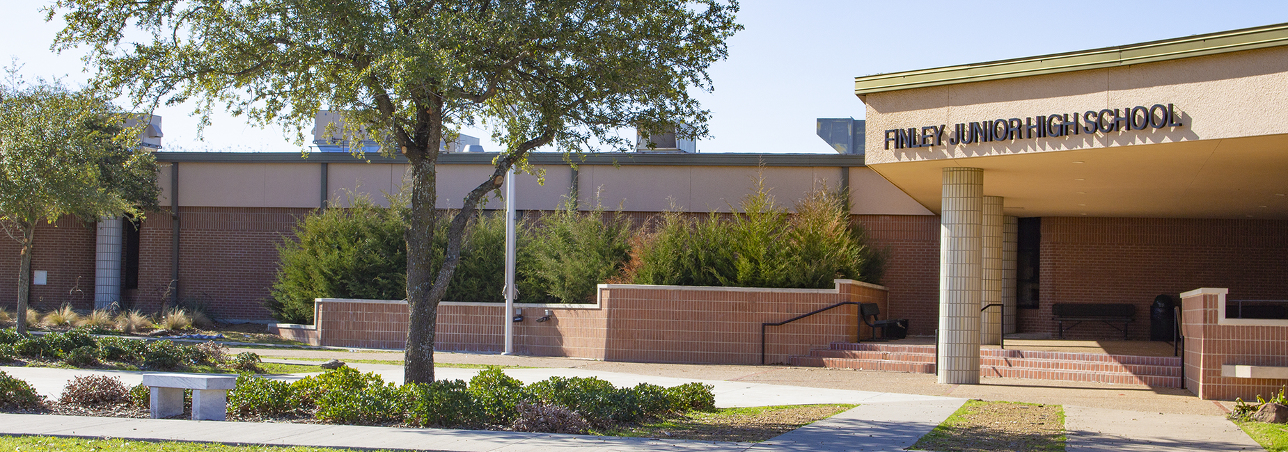 exterior view of campus entrance