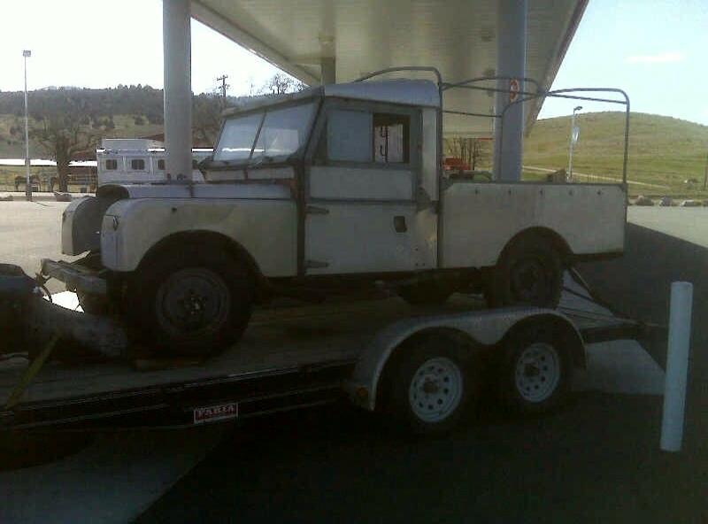 Land Rover being delivered by a former student