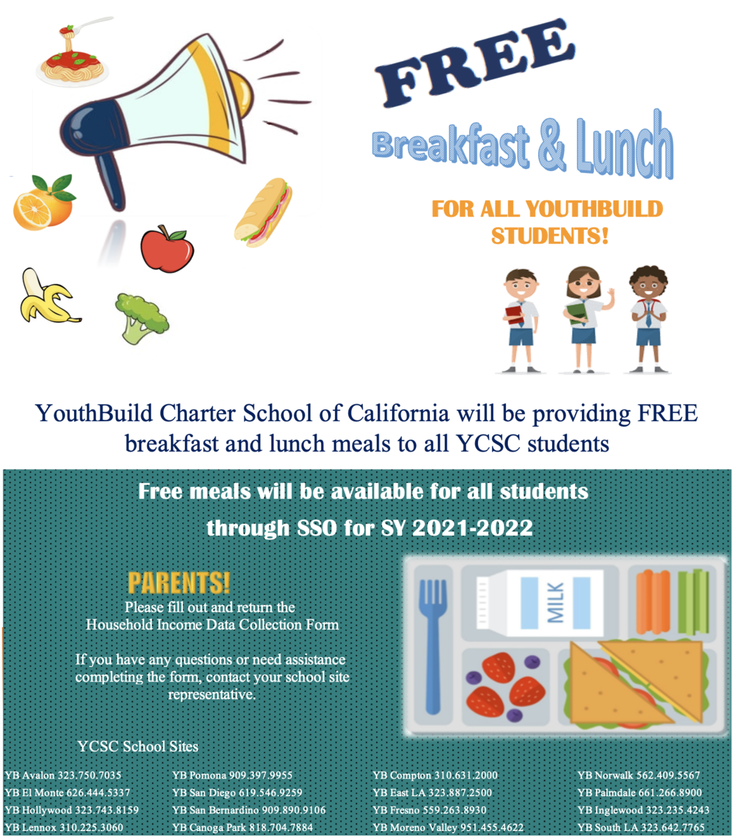 Flyer about free lunch program