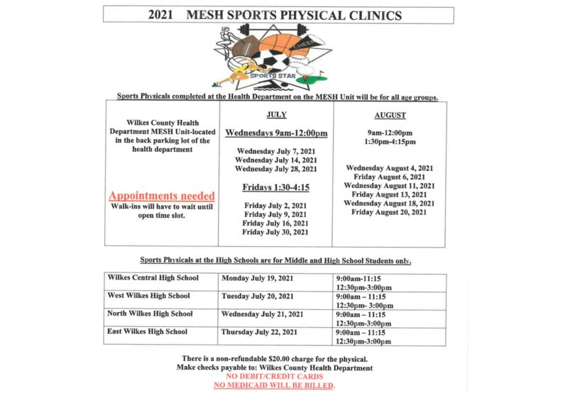 MESH Providing Sports Physicals Thumbnail Image