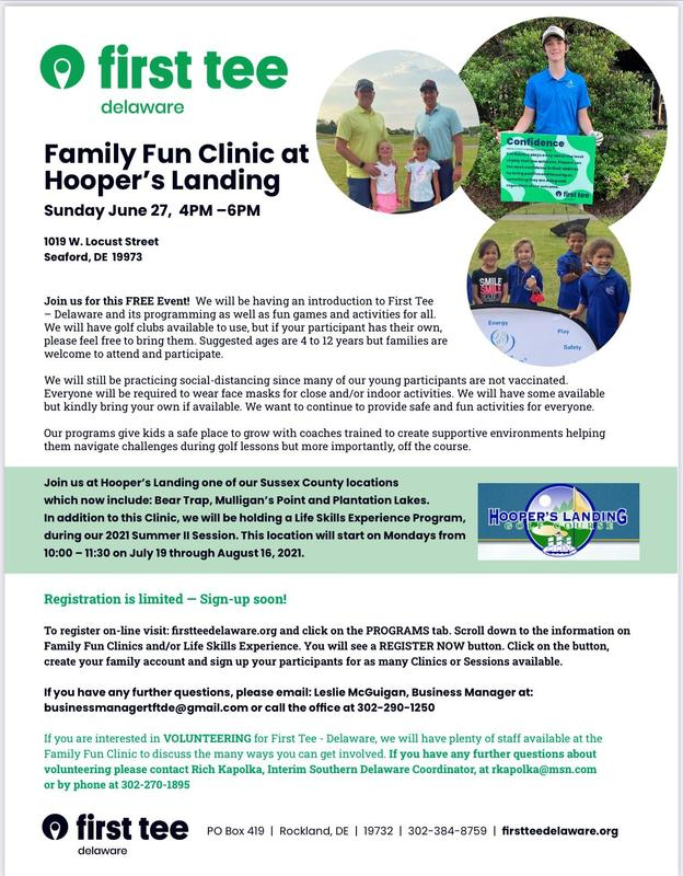First Tee Delaware Offers Free Clinic to Children Ages 4-12. Featured Photo