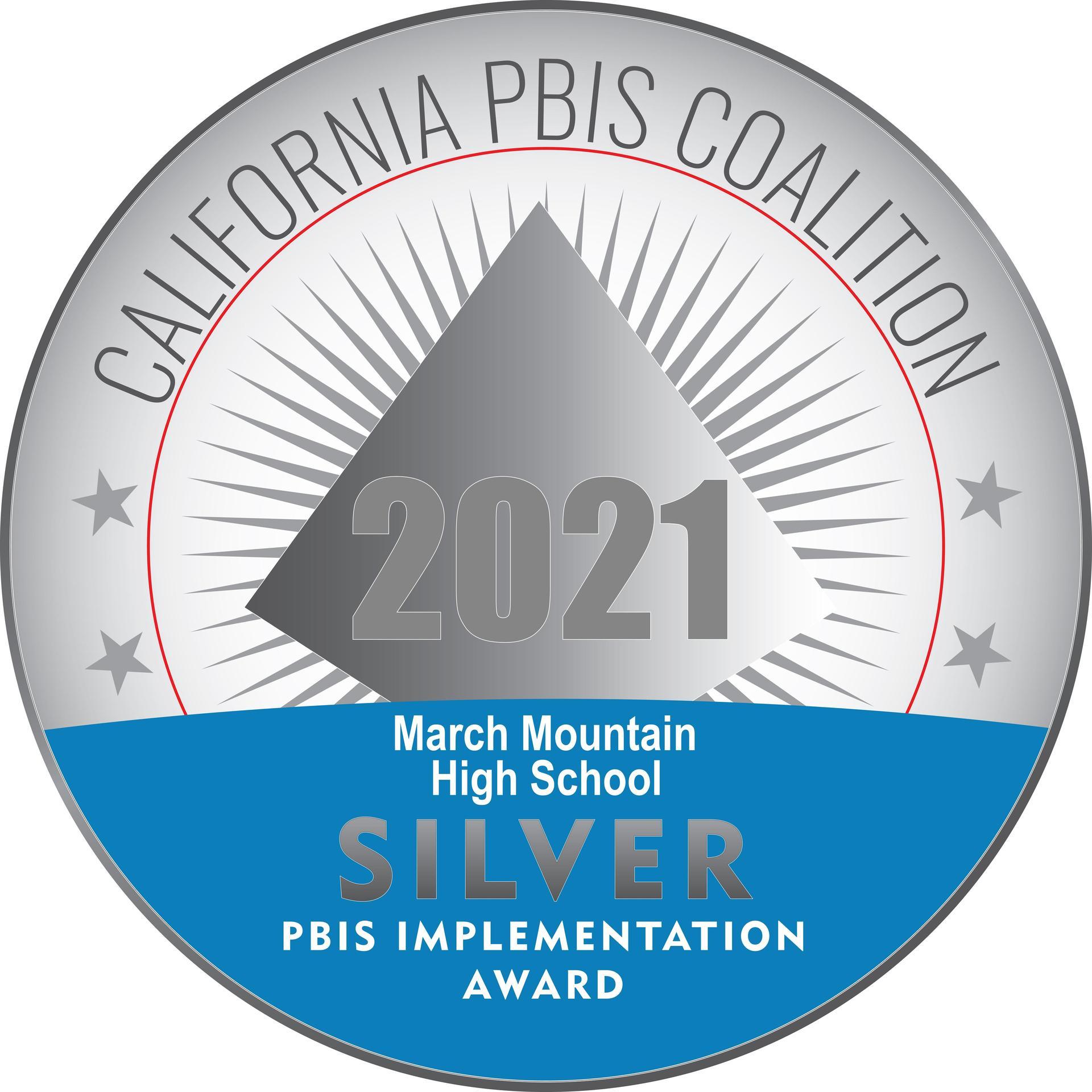 MMHS PBIS Award