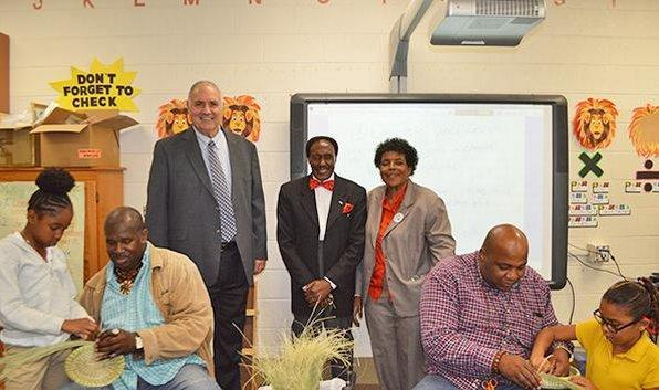 Board members and Sweet Grass basket makers visit FES