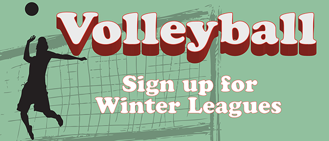 Sign up for Winter League Volleyball