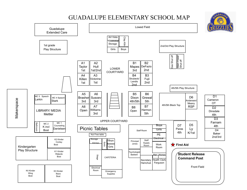 Guadalupe School Map