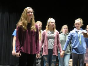 Students prepare for their upcoming shows.