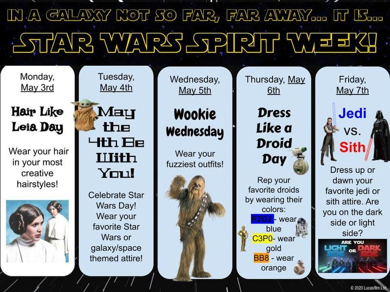Star Wars School Spirit Week Featured Photo