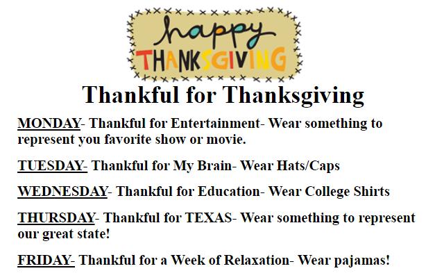 Thankful for Thanksgiving - Dress Up Days Thumbnail Image