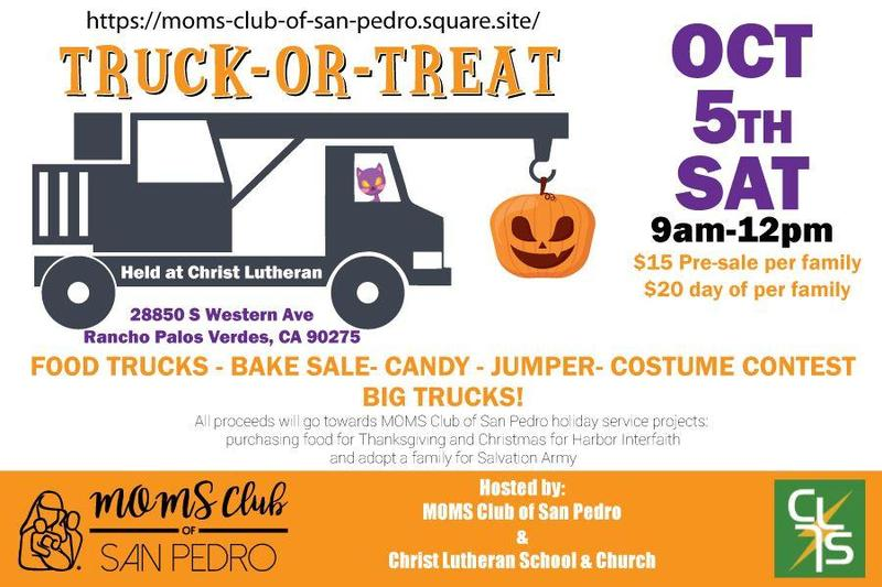 San Pedro MOMS Club Truck or Treat Oct 5 Featured Photo