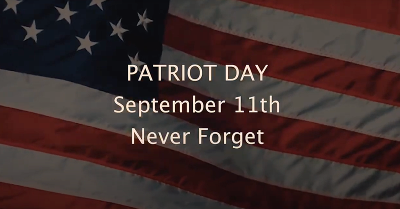 Patriot Day Sept. 11.